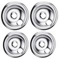 Beaquicy WB31T10010 and WB31T10011 Chrome Drip Pans - Compatible with GE and Ken-more Replacement Electric Range