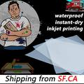 Waterproof Inkjet Instant-Dry Transparency Positive Film 5mil for Silk Screen Printing,It is Ideal for EPSON HP Canon Water-Based dye and Pigment Inkjet Printing Printers 11x17, 25 Sheets