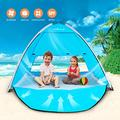 TIYASTUN Beach Tent Sun Shelter Beach Shade Tent Beach Canopy Pop Up Tent for Beach with UV Protection for 1-3 Person Upgraded Folding System