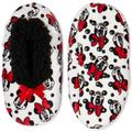 Disney Shoes | Minnie Mouse Girls Fuzzy Slippers Sz M-L | Color: Black/Red | Size: Size: Ml- (13 Little Girl- 4 Big Girl)
