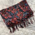 American Eagle Outfitters Accessories | Multicolored Fashion Scarf | Color: Blue/Pink | Size: Os