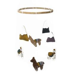 Indigo Safari Felt Baby Nursery MobileFabric in Brown, Size 19.0 H x 8.0 W x 8.0 D in   Wayfair 2DAA44F7A3484189B386FF6D6E11A674