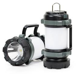 """WYZworks 7"""" Battery Powered Integrated LED Color Changing Outdoor Lantern in Gray, Size 3"""" L x 3"""" W x 7"""" H 