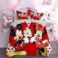 MKHUFCLE 3D Mickey Minnie Mouse Duvet Cover Set Bedding Set Full All Season Quilt Set Bedding Set Includes 1 Comforter and 2 Pillow Shams Easy Care Bedding Cover Light Weight,Queen Size
