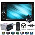 Car CD Player Double 2din Radio for Nissan Navara D40 2007-2015, with Reverse Camera Mirror Link for iOS/Android Phones Bluetooth Hands-Free Calling SWC Touchscreen 6.2""