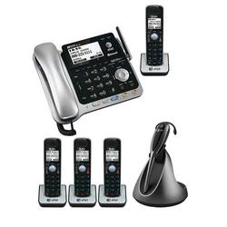 AT&T TL86109 + (3) TL86009 + TL8900 DECT 6.0 Corded/Cordless Phone with Headset