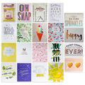 Elum Designs Assorted Letterpress Cards Set | Stationery & Gift Products, Foil Stamped, Made with 100% Cotton Rag Paper, Assorted Letterpress Cards (20 Cards and 20 Envelopes 4.25 x 5.5) - 20 Assorted Cards (AMZ-20GC-MIX)