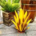1 PC Metal Agave Fake Plant Metal Agave Plants for Outdoor Patio Yard Garden Figurines Home Yard Decorations for Outdoor Patio Yard Gardening Gifts Agave Cactus Yard Art Metal Agave Fake Plants