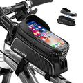 MOKFIRE Bike Phone Bag Bicycle Phone Holder Bike Phone Mount Bike Frame Bags Top Tube Bike Bag Waterproof Bike Pouch Bike Accessories Cycling Cell Phone Case Compatible with iPhone 11/12 6/7/8 Plus