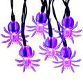 RECESKY 40 LED Purple Spider String Lights with Build-in Timer - 14ft Battery Operated Halloween String Lights for Halloween Party Decor, Halloween Decoration, Halloween Lighting, House, Garden, Yard
