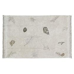 Lorena Canals USA Washable Rug Pine Forest, Natural, Soil Brown, Linen, Olive, Pearl Grey, 4' 7'' x 6' 7''