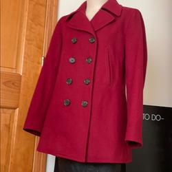 J. Crew Jackets & Coats | J. Crew Red Wool Peacoat Coat Size M | Color: Red | Size: M