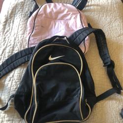 Nike Bags   Nike Small Backpack And Small Pink Backpack Lot   Color: Black   Size: Approx. 12 X 9