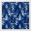 Canvas Print | Sakura Blossom In Deep Blue by Adenajdesign - LARGE - Society6