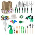 Joyhoop 50Pcs Garden Tool Set,Gardening Tool Set,Garden Tools for Gardening,Aluminum Alloy Gardening Tools and Small Succulent Plant Tools with Tool Bag Hat Best Gifts for Men Women Gardeners