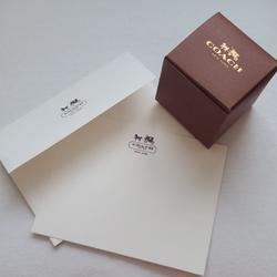 Coach Accessories   Coach Cube Box And Note Card With Envelope   Color: Brown/White   Size: Os