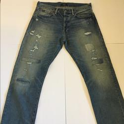 Polo By Ralph Lauren Jeans | Classic Fit Denim Jeans (Rugged Stonewashed) | Color: Blue | Size: 33