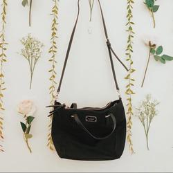 Kate Spade Bags | Black Kate Spade Medium Top Handle With Long Strap | Color: Black | Size: Os