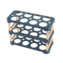 3 Layer Egg Holder for Refrigerator,24 Cells Reusable Egg Tray Plastic Storage Fridge Egg Tray, Egg Holder Stackable Egg Containers DIY Detachable Egg Tray or Fridge Door (Color : Blue)