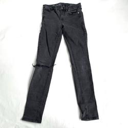 Madewell Jeans | Madewell Skinny Skinny Jeans Gray Ripped Size 27 Grey Denim Jeggings Distressed | Color: Gray | Size: 27