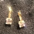 Kate Spade Jewelry | Cubic Zirconia Drop Gold Plated Earrings. | Color: Gold | Size: Os