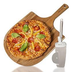 12 inch Wood Pizza Peel - Wood Pizza Peel, Pizza Server Spatula, Pizza Spatula, Pizza Cutting Board, Wooden Pizza Paddle, Pizza Peel Set