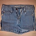 American Eagle Outfitters Shorts | High-Waisted Denim Short Short | Color: Blue/White | Size: 2