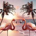 DIY Diamond Painting Kits for Adults Diamond Painting Pink Flamingo Paint with Diamonds 5d Diamond Art Diamond Cross Stitch Kits Paint by Numbers Gem Art Drill and Dotz11.8×11.8Inch