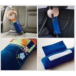 helegeSONG Car Seat Strap Covers for Kids, Seat Pets Stuffed Animal Seat Belt Car Seat Strap Belt Cushion Cover for Kids, Adjustable Pillow Car Protect Kids Shoulder Chest #Bear