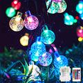 Metaku RGB Globe String Lights Fairy Lights Battery Operated 16.4ft 50LED String Lights with Remote 16 Colour Changing Garden Lights Waterproof Indoor Outdoor Decorative Lights for Garden Patio Home