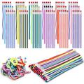 90 Pieces Flexible Colorful Bendable Pencils Assorted 3 Styles Flexible Soft Pencil Magic Bend Pencils with Eraser for School Prizes Kids Presents Teachers Classroom Supplies