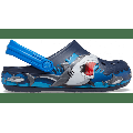 Crocs Navy Kids' Crocs Fun Lab Shark Lights Clog Shoes