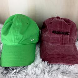 Nike Accessories   Nike Hat And #Squadgoal Hat Bundle   Color: Green   Size: Os