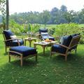 Birch Lane™ Summerton 7 Piece Teak Sofa Seating Group w/ Cushions Wood/Natural Hardwoods in Brown/White   Wayfair A33A0A039FAB4991BF0591DF3CC748B7