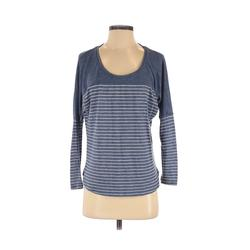Cotton On Long Sleeve T-Shirt: Blue Print Tops - Size Small