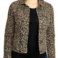 Nine West Jackets & Coats   Nwt Nine West Tan Bengal Womens S Jean Jacket   Color: Black/Tan   Size: S