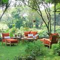 Birch Lane™ Summerton 7 Piece Teak Sofa Seating Group w/ Cushions Wood/Natural Hardwoods in Brown/White   Wayfair 4521028B3B4E409F956AEFE67606EC23