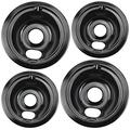 Blutoget WB31M20 WB31M19 Range Drip Pan Kit - Replacement for GE Range Includes 2 6-Inch and 2 8-Inch Pans(4 Pack)