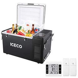 ICECO VL35 37 Quart Portable Refrigerator Freezer, Car Fridge & Refrigerator with SECOP Compressor, 12 Volt Freezer Refrigerator, AC 110-240V, DC 12/24V, -8℉ to 50℉, Home & Car Use (VL35+Thermometer)