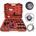 AutoSpeed Radiator Pressure Tester Kit, Coolant Pressure Tester Kit Cooling System Purge Coolant Vacuum Refill Kit, 28PCS Universal Automotive Water Tank Leak Test Tools with Red Carrying Case