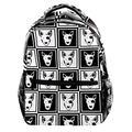 Black White Hipster Bull Terrier Dog Laptop Backpack for Men School Bookbag Travel Rucksack Daypack School Bag for Women Girls