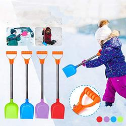 Snow Shovel for Kids with Handle , Holzkary Safer Than Metal Snow Shovels Perfect Sized Snow Shovel , Kids Gardening Snow Shovel Driveway Car Sand Scoop (4PC)