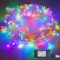 String Lights with Strong Lights Halloween String Lights, 8 Modes Waterproof Indoor Outdoor Fairy String Lights, and Decoration Party, Bedroom, Christmas Tree Lights (66ft 200LED, Multicolor)