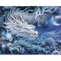 Paint By Numbers For Adults And Kids,Diy Acrylic Painting Kit For Beginner,Creative Dragon Animal Painting On Canvas Paint By Numbers Painting For Home Wall Living Room Bedroom Decoration-16X20Inch