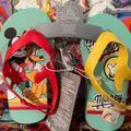 Disney Shoes | Adorable Mismatch Kids Flip Flop | Color: Red/Yellow | Size: Boys Or Girls 78