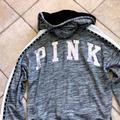 Pink Victoria's Secret Jackets & Coats | Pink Victorias Secret Bling Jacket Wfaux Fur | Color: Black/Gray | Size: L