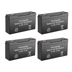 BatteryGuy Rechargeable BGH-6100F2-6V 12AH High Rate Replacement UPS Battery for Hewlett-Packard Powertrust UPS Pack