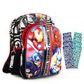 "Marvel Avengers Backpack for Boys Girls Kids - Large 16"" Marvel Avengers School Bag Bundle with Avengers Stickers (Avengers School Supplies)"