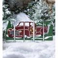 Plow & Hearth Antique Truck Lighted Landscape 5 Pieces Garden Stake SetMetal, Size 28.5 H x 0.25 W x 44.5 D in | Wayfair 55304