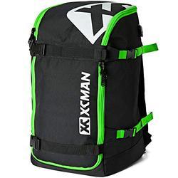 XCMAN Ski Snowboard Backpack 50L Flying Air Travel Bag Stores Helmet, Alpine ski & Snowboard Boots,Goggles, Gloves, Clothes,External Hanging Storage Alpine Ski and Snowboard,USB Charging Port